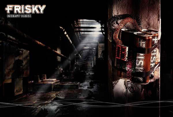 استودیو ژو - عکاسی محصول خلاق نوشابه انرژی زا فریسکی - عکاسی تبلیغاتی و صنعتی