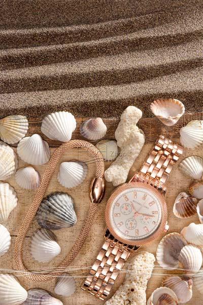 استودیو ژو – ساعت و دستبند رزگلد – عکاسی تبلیغاتی ساعت و جواهرات