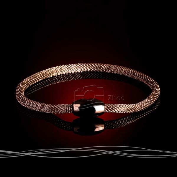 استودیو ژو – دستبند رزگلد – عکاسی تبلیغاتی ساعت و جواهرات