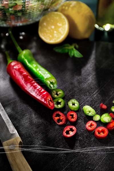 عکاسی صنعتی و تبلیغاتی از مواد غذایی - فلفل