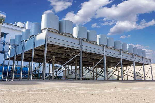 عکاسی صنعتی و تبلیغاتی از نمای خارجی سیستم خنک کننده کارخانه تولید برق اصفهان