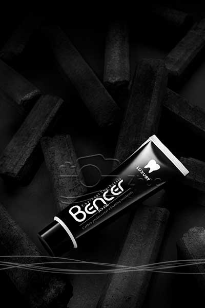 عکاسی تبلیغاتی و صنعتی محصولات آرایشی و بهداشتی بنسر - خمیر دندان زغالی