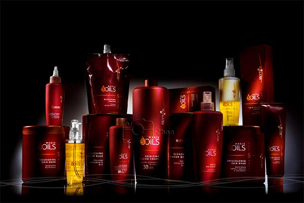 عکاسی تبلیغاتی و صنعتی برند 5oils به منظور استفاده در فضای تبلیغاتیبا نورپردازی تخصصی و پیچیده برای محصول