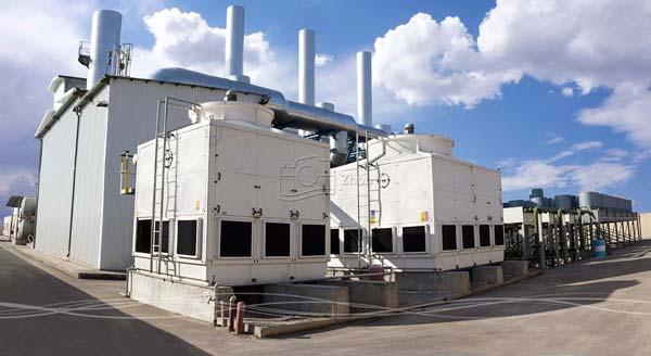 عکاسی تبلیغاتی و صنعتی نمای خارجی سیستم خنک کننده کارخانه تولید برق اصفهان به منظور استفاده در کاتالوگ